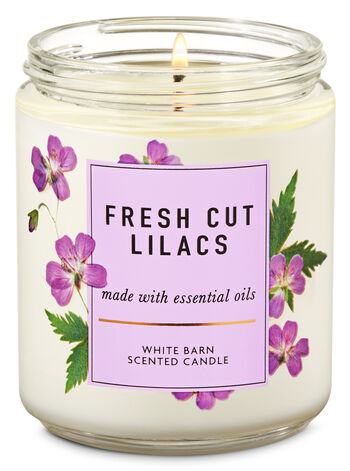 Fresh Cut Lilacs Single Wick Candle - Bath And Body Works