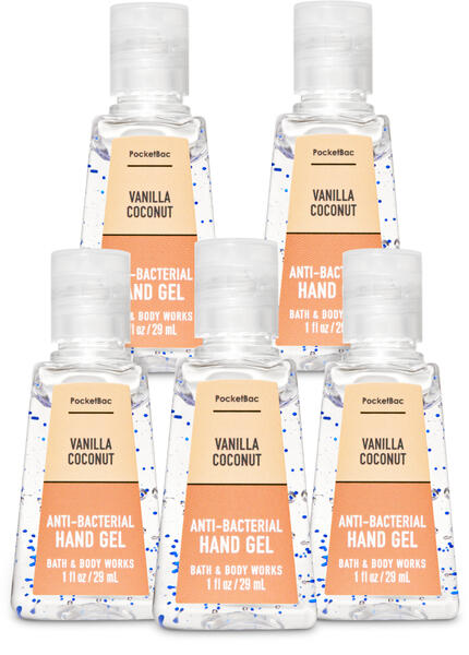 Vanilla Coconut PocketBac Hand Sanitizer, 5-Pack