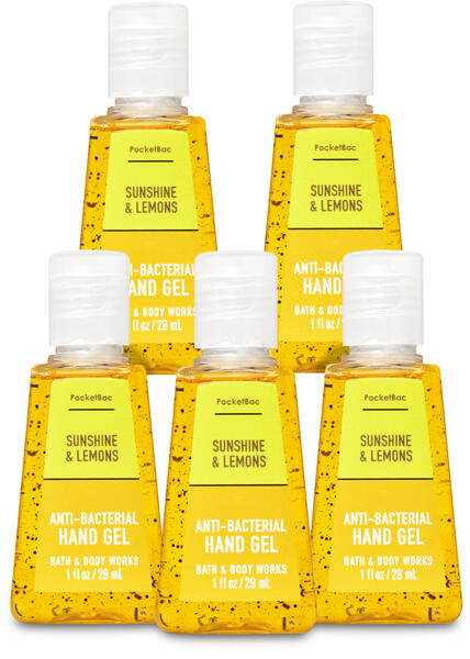 Sunshine & Lemons PocketBac Hand Sanitizer, 5-Pack
