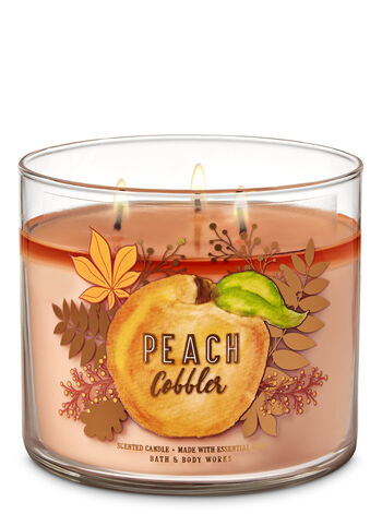 Peach Cobbler 3-Wick Candle - Bath And Body Works