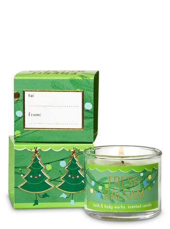 Fresh Balsam Mini Candle - Bath And Body Works