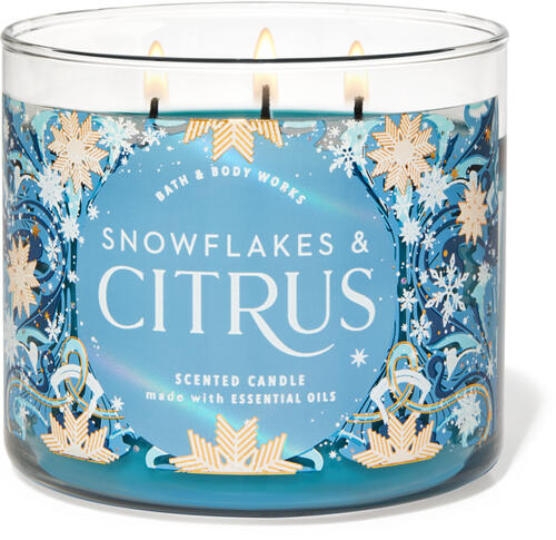 Snowflakes & Citrus 3-Wick Candle
