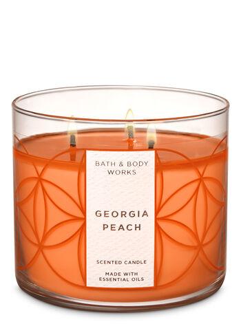 Georgia Peach 3-Wick Candle - Bath And Body Works