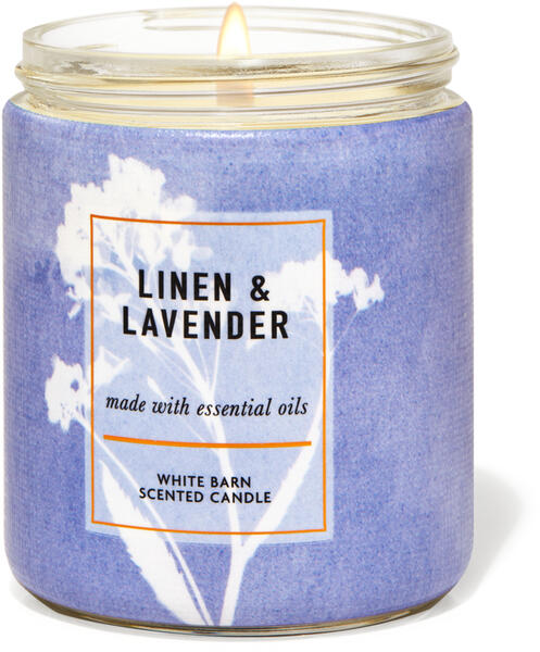 Linen & Lavender Single Wick Candle