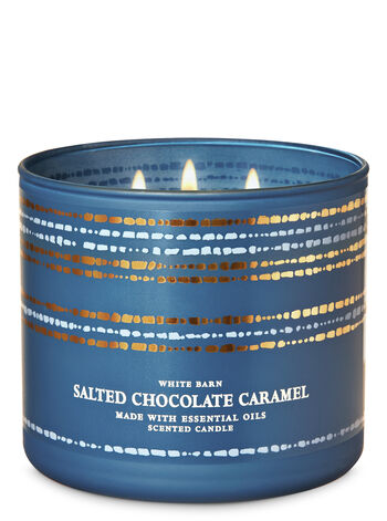 Salted Chocolate Caramel 3-Wick Candle - Bath And Body Works