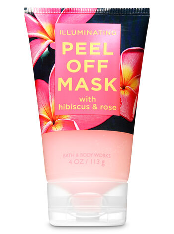Illuminating with Hibiscus & Rose Peel Off Face Mask - Bath And Body Works