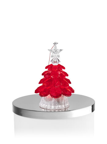 Red Tree Light-Up 3-Wick Candle Magnet