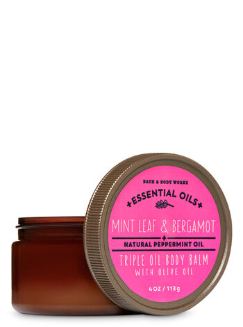 Signature Collection Mint Leaf & Bergamot Triple Oil Body Balm with Olive Oil - Bath And Body Works
