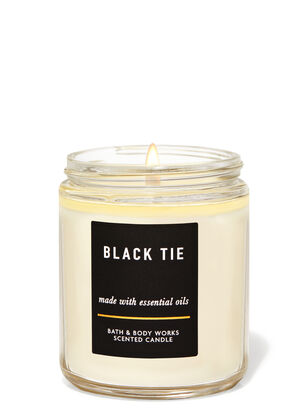 Black Tie Single Wick Candle
