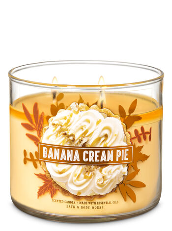 Banana Cream Pie 3-Wick Candle - Bath And Body Works
