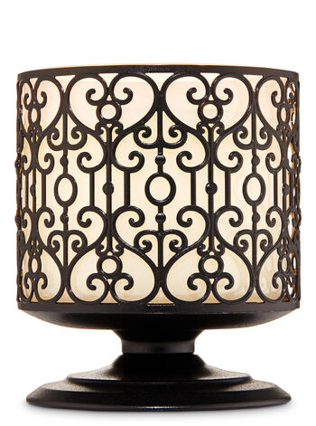 Ornate Heart Pedestal 3-Wick Candle Holder - Bath And Body Works