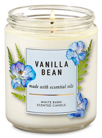 Vanilla Bean Single Wick Candle - Bath And Body Works