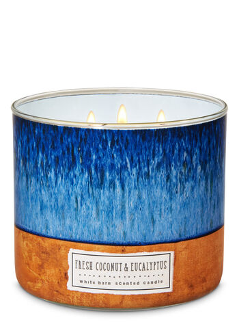 White Barn Fresh Coconut & Eucalyptus 3-Wick Candle - Bath And Body Works