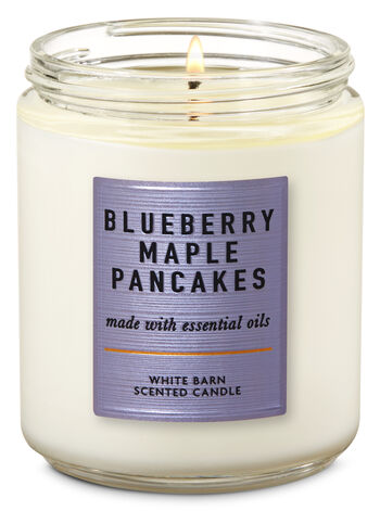 Blueberry Maple Pancakes Single Wick Candle - Bath And Body Works
