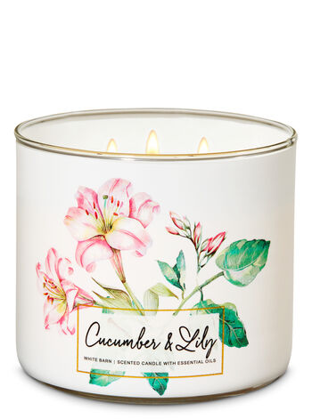 Cucumber & Lily 3-Wick Candle - Bath And Body Works