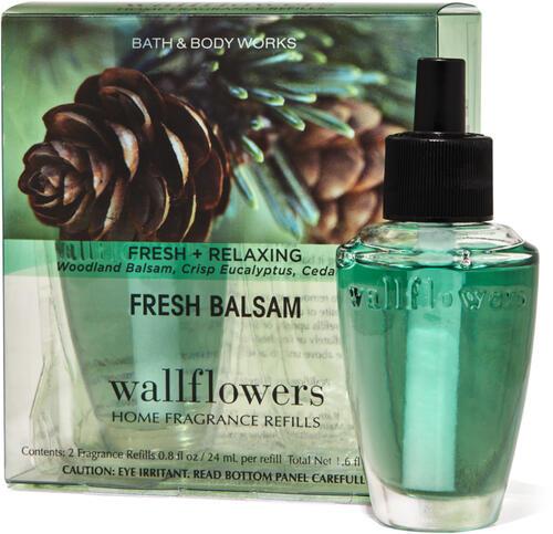 Fresh Balsam Wallflowers Refills 2-Pack
