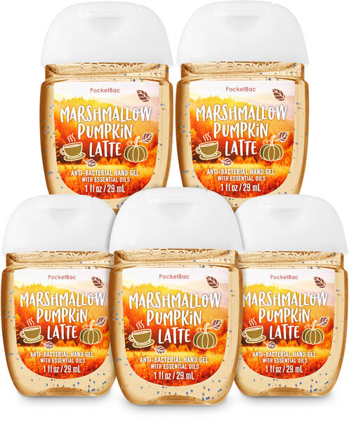Marshmallow Pumpkin Latte PocketBac Hand Sanitizer, 5-Pack