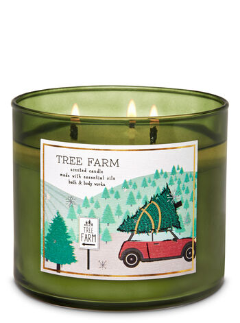 Tree Farm 3-Wick Candle - Bath And Body Works