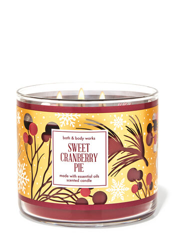 Sweet Cranberry Pie 3-Wick Candle