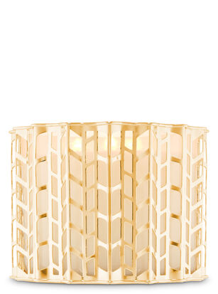 Gold Knitted 3-Wick Candle Holder