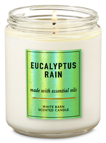 Eucalyptus Rain Single Wick Candle - Bath And Body Works