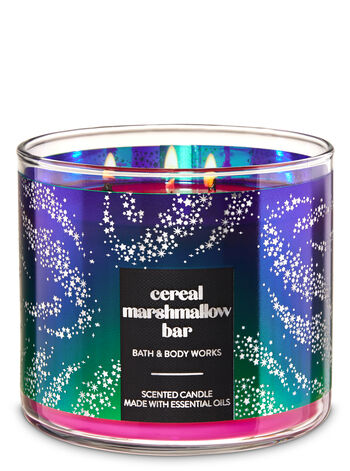 Cereal Marshmallow Bar 3-Wick Candle - Bath And Body Works