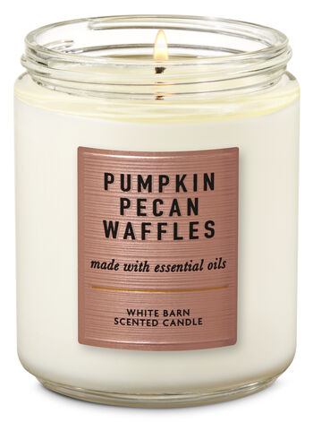 Pumpkin Pecan Waffles Single Wick Candle - Bath And Body Works