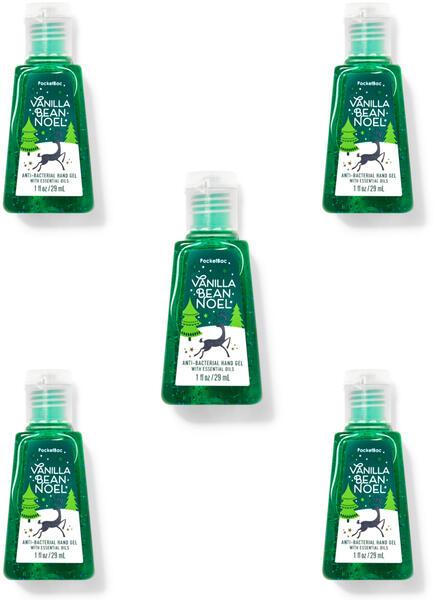 Vanilla Bean Noel PocketBac Hand Sanitizer, 5-Pack