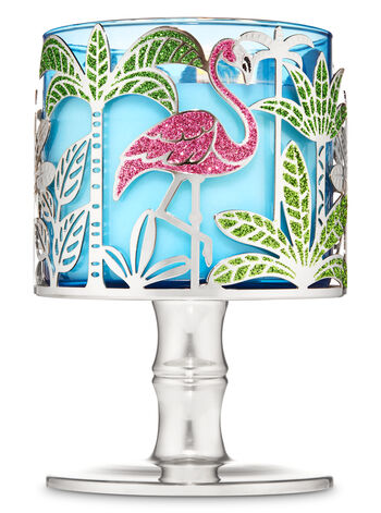 Tropical Flamingo 3-Wick Candle Holder - Bath And Body Works