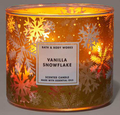 Vanilla Snowflake 3-Wick Candle