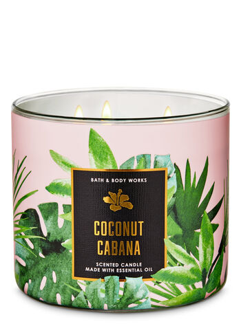 Coconut Cabana 3-Wick Candle - Bath And Body Works