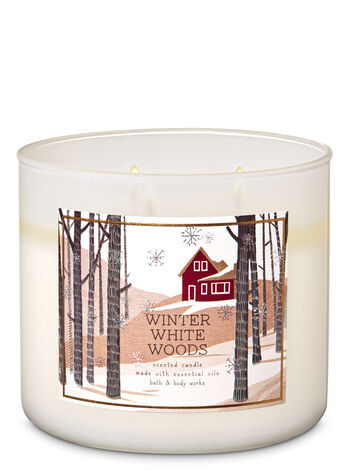 Winter White Woods 3-Wick Candle - Bath And Body Works