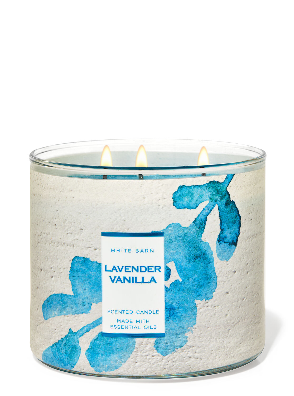 Lavender Vanilla Peppermint Essential Oil Candle all natural candle beeswax candle therapeutic candle aromatherapy candle relaxation candle