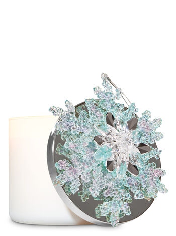 Blue Snowflake 3-Wick Candle Magnet - Bath And Body Works