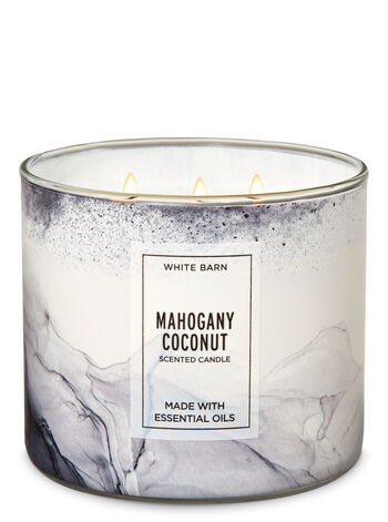 White Barn Mahogany Coconut 3-Wick Candle - Bath And Body Works