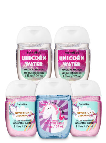 Unicorns & Rainbows PocketBac Hand Sanitizers, 5-Pack - Bath And Body Works