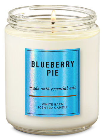 Blueberry Pie Single Wick Candle - Bath And Body Works