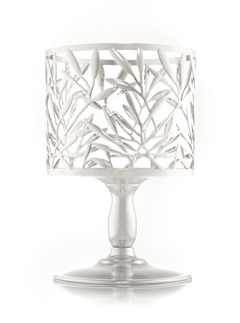 Vine Leaf Pedestal 3-Wick Candle Holder