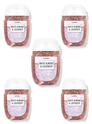 White Almond & Lavender PocketBac Hand Sanitizers, 5-Pack