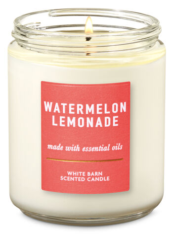 Watermelon Lemonade Single Wick Candle - Bath And Body Works