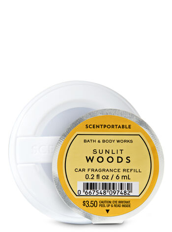 Sunlit Woods Car Fragrance Refill - Bath And Body Works