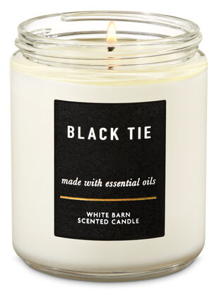 Black Tie Single Wick Candle