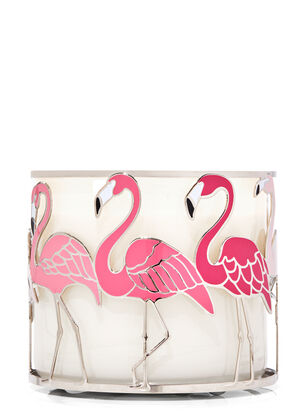 Flamingos 3-Wick Candle Holder