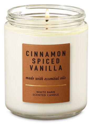 Cinnamon Ed Vanilla Single Wick Candle