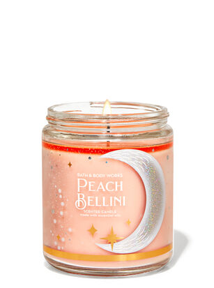 Peach Bellini Single Wick Candle