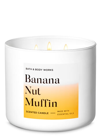Banana Nut Muffin 3-Wick Candle - Bath And Body Works