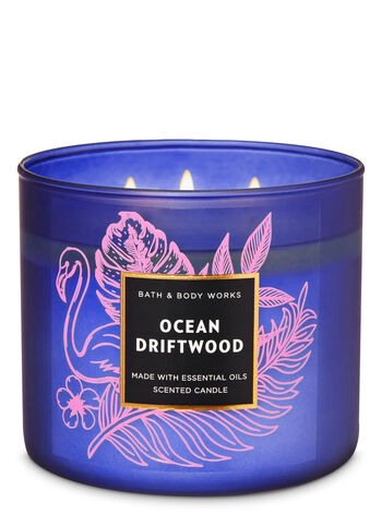 Ocean Driftwood 3-Wick Candle - Bath And Body Works