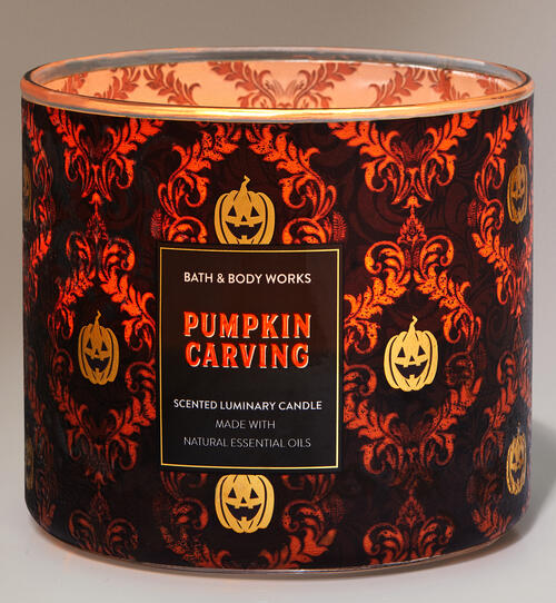 Pumpkin Carving 3-Wick Candle