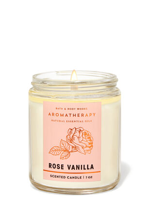 Rose Vanilla Single Wick Candle