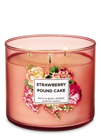 Strawberry Pound Cake 3-Wick Candle - Bath And Body Works